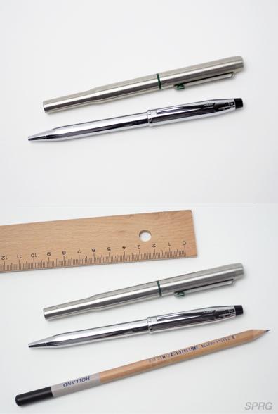 「引き立て文具」金属製品に木の暖かみを