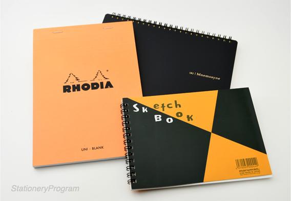 試筆に供したノート3冊